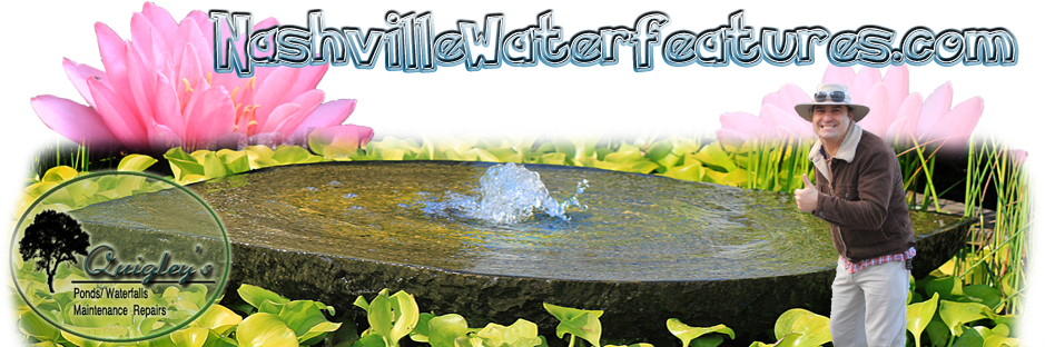 Pond and Waterfall Liner Repairs in Nashville Tn and