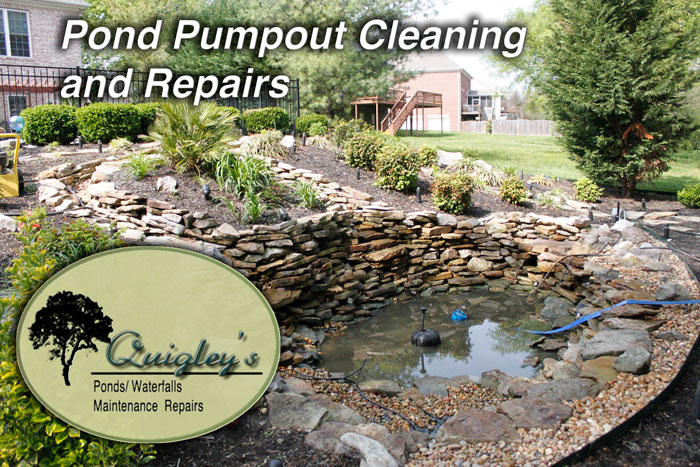 Pond-Cleanout-Repairs-Builder-TN Frankin, Brentwood, Spring HIll, and Nolensville Tennessee.